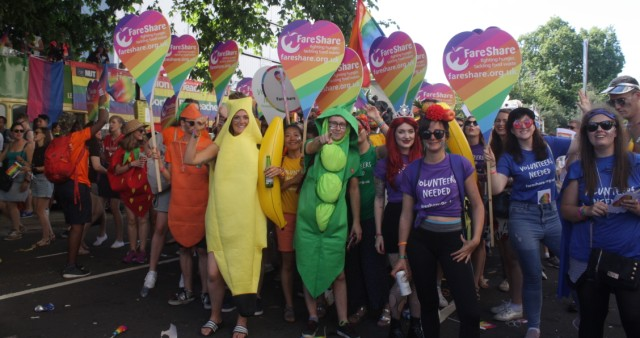 FareShare marching at London Pride 2017