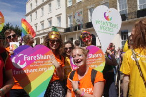 FareShare join in the Pride London parade
