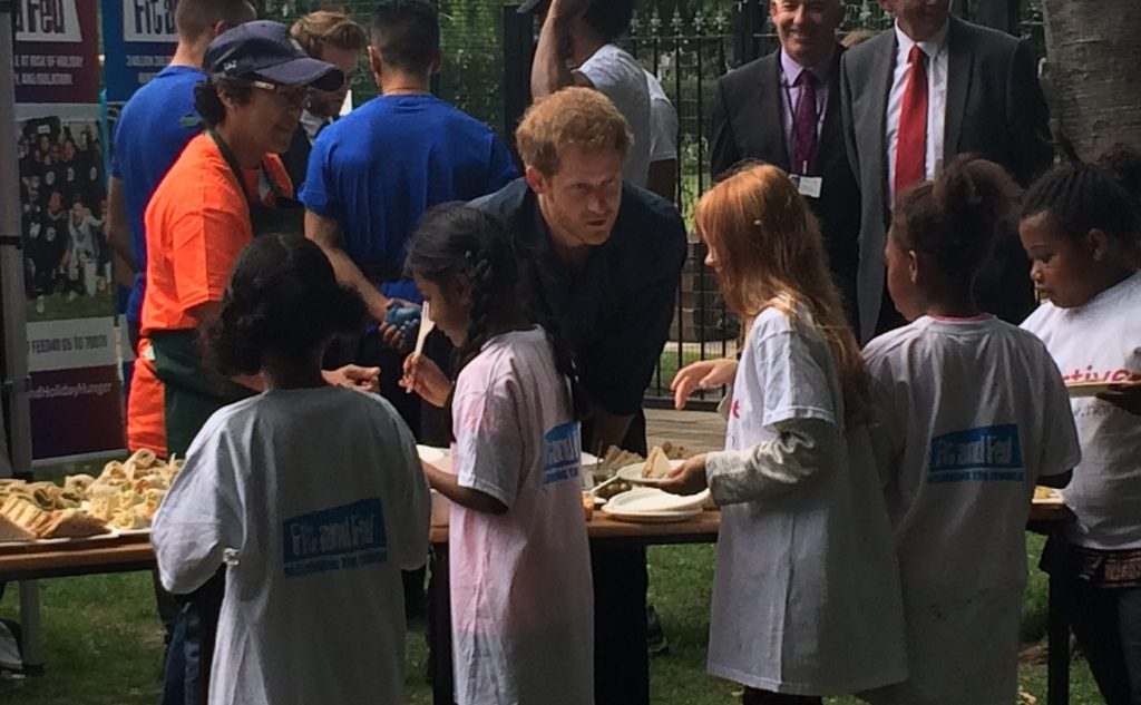 Prince Harry and children