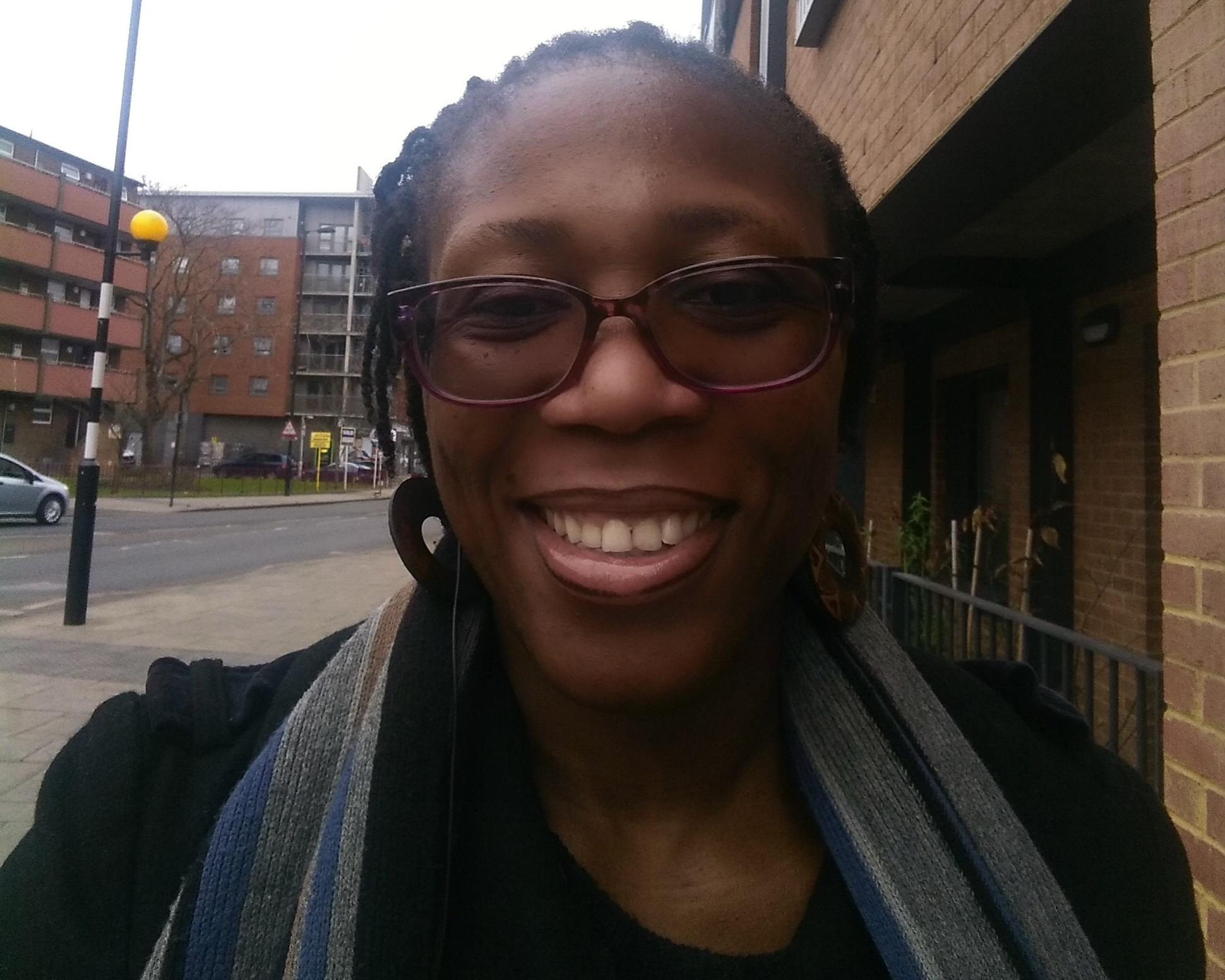 Smiling selfie of FareShare London volunteer Venessa